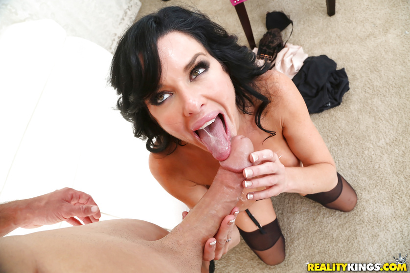 Trimmed pussy of a beautiful brunette babe Veronica Avtuv nailed