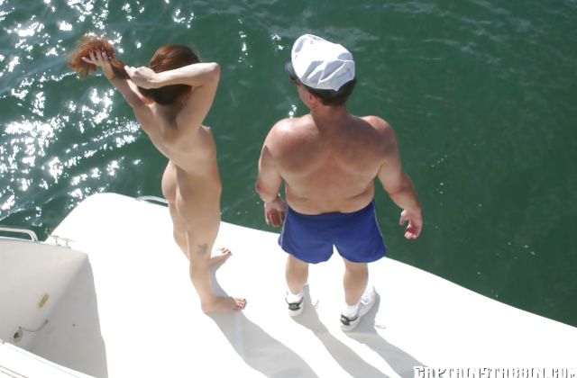Rich guy invites a young amateur for a ride on his enormous boat