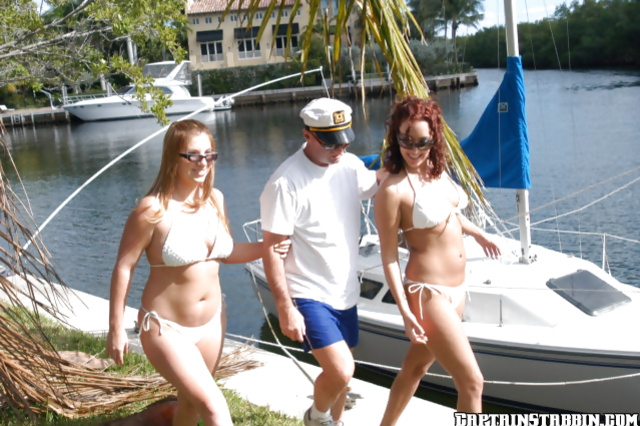 Christina and Ginger invited for a fantastic ride on the yacht