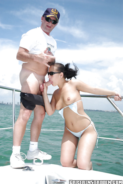 Seduced and fucked by a filthy captain on his enormous boat