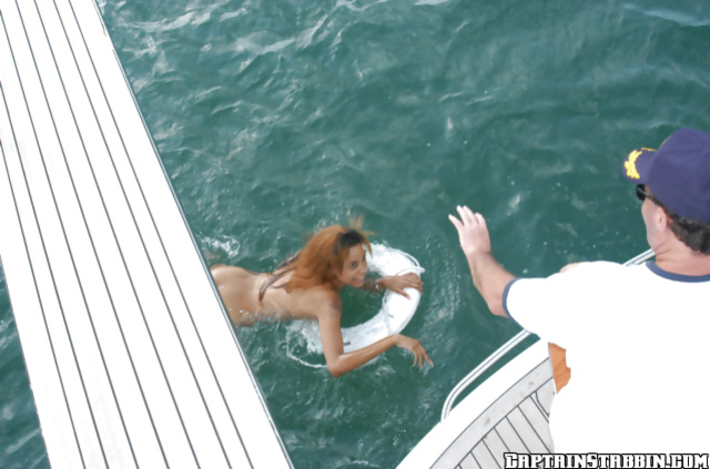 Misty Mason has her amateur Latina pussy nailed on the boat