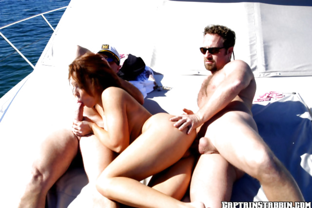 Anal intercourse on a yacht features a seductive amateur