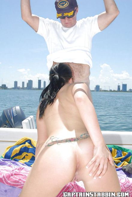 Riding a big dick while enjoying a fantastic ride on an yacht