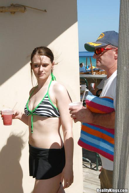 Slutty chick wearing green bikini wants to be fucked deep and hard