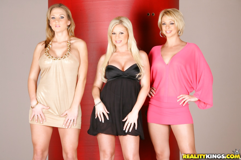 Brianna Beach, Ahryan Astyn, Nikki Sexx enjoying a gloryhole
