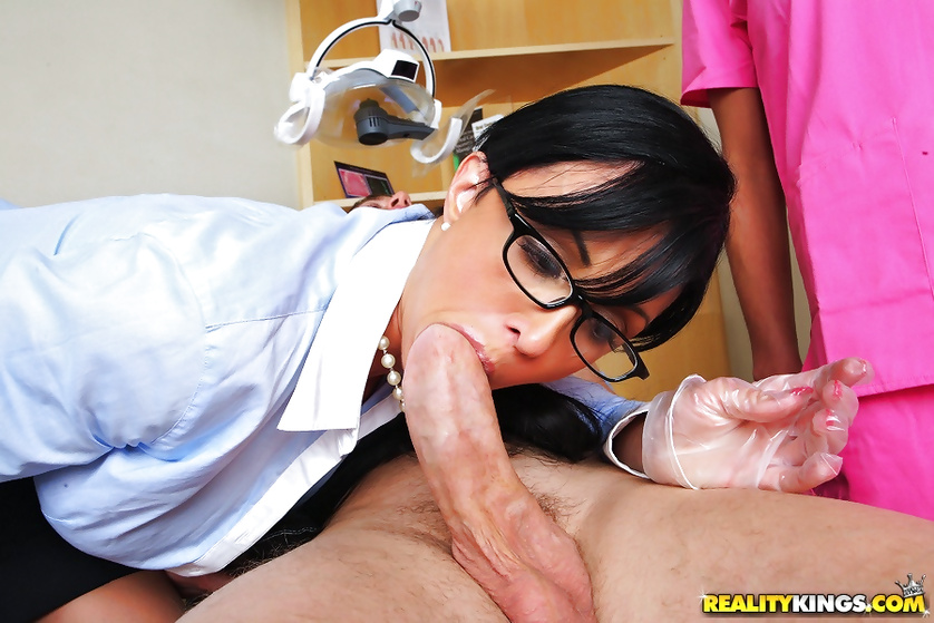 Seductive nurse and a hot doctor treat their patient in a sexy manner