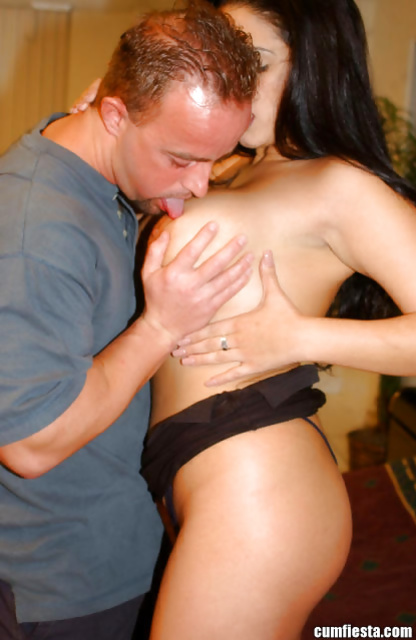 Lady in black is always glad to get her shaved pussy drilled