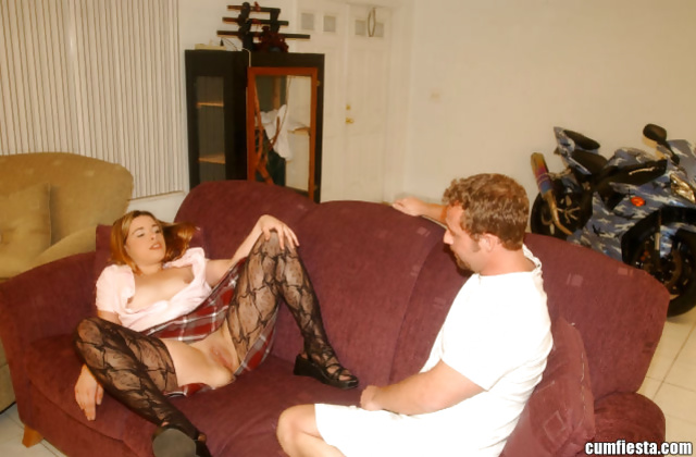 Lustful madam wearing nylon stockings wants it deeper