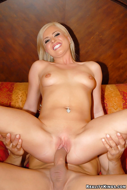 Perfect blonde is flashing tits and enjoying wild penetration