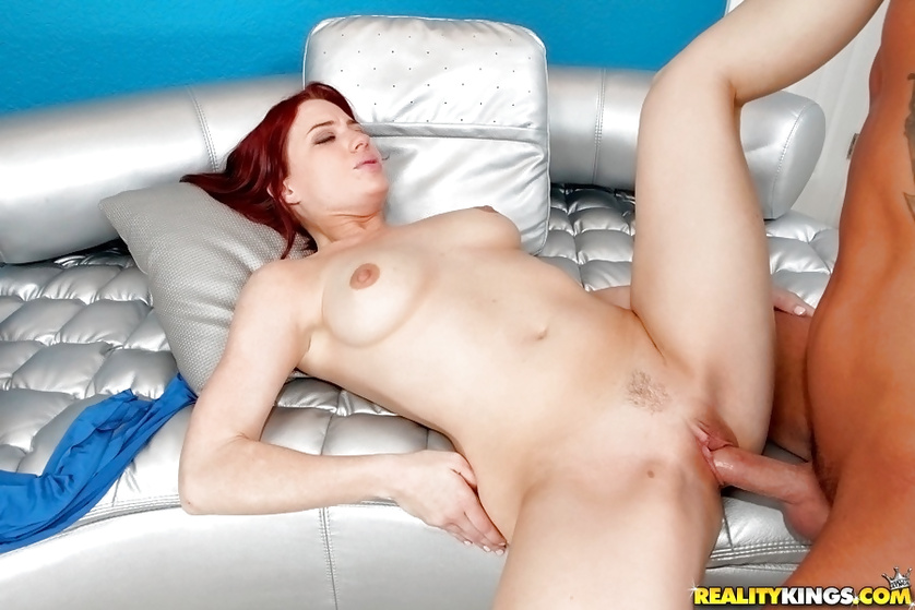 Redhead chick loves licking balls and sucking dick
