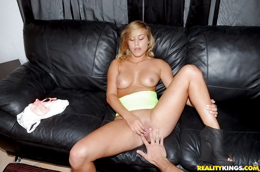 Upskirt scenes and awesome fuck with lovely blonde