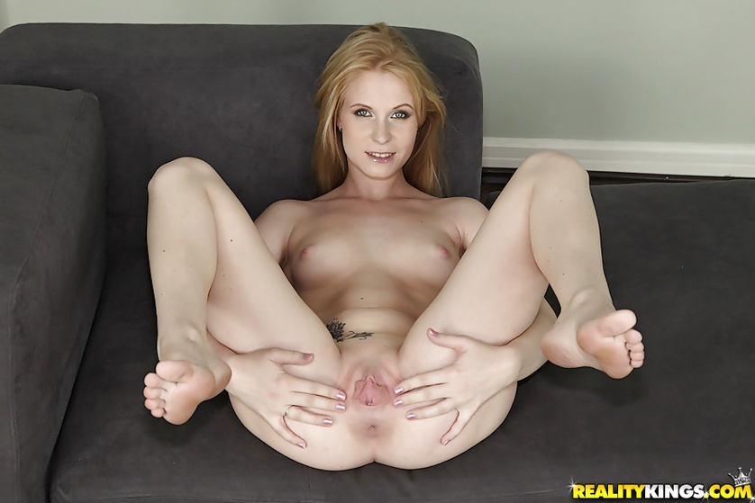 Lovely blonde wants to have fun with two partners