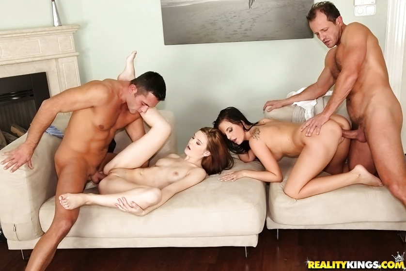 Horny ladies are fond of wild sex and massive facials