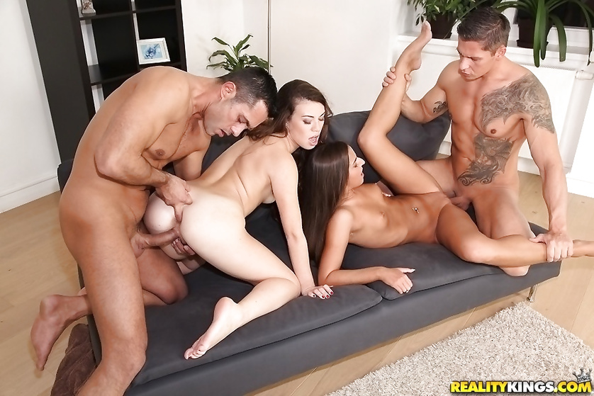 All these babes really want is hardcore foursome with handsome guys