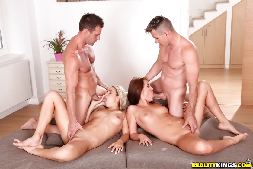 Young porn stars are swallowing cum with pleasure