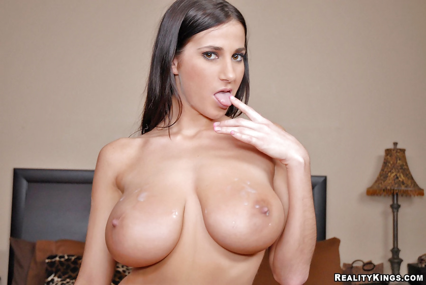 Perfect brunette in black is fucking like a filthy porn star