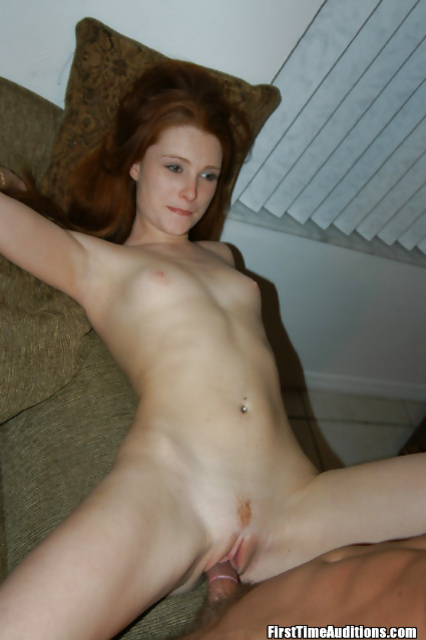 Redhead slut is sucking and riding massive aggregate