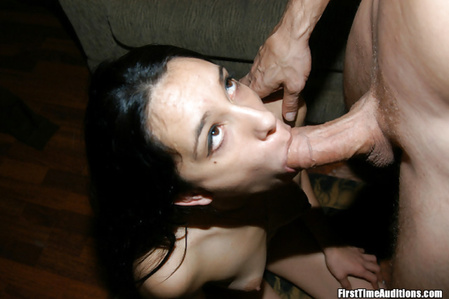 Shameless brunette is riding and deepthroating big cock