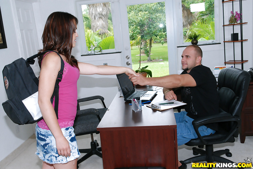 Passionate secretary is enjoying wild sex in the office