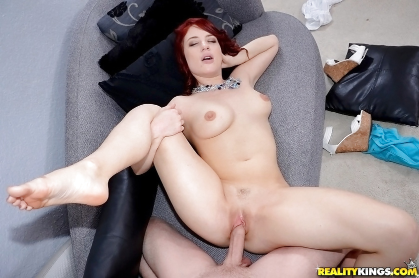 Redhead babe is demonstrating all the passion she's got