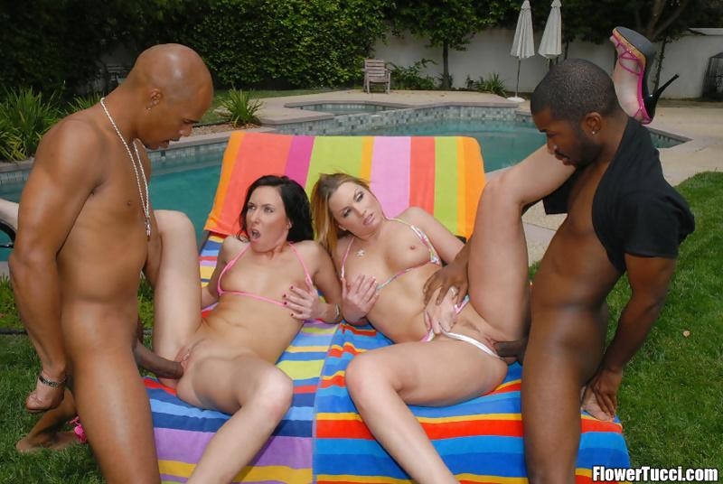 Hot chicks love playing with hard ebony dicks