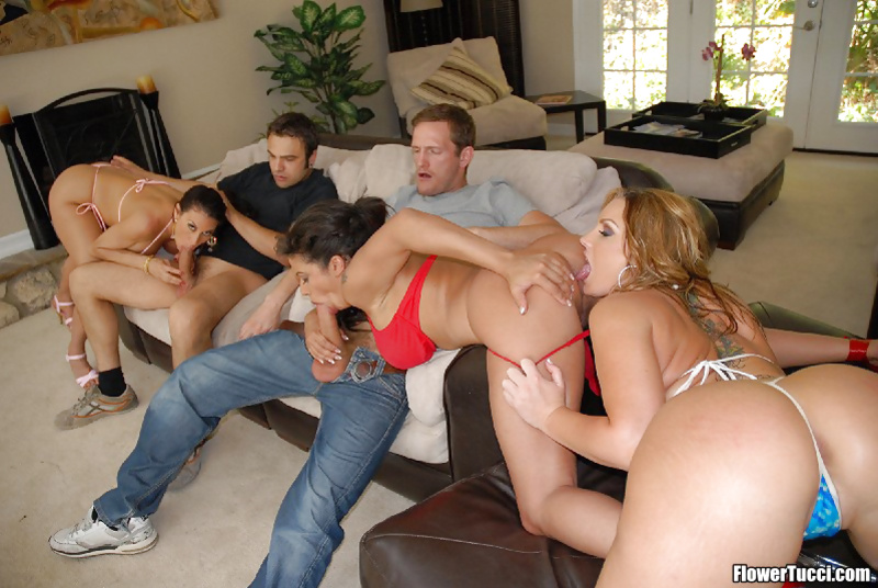 Flower Tucci loves having wild group sex with hot pornstars
