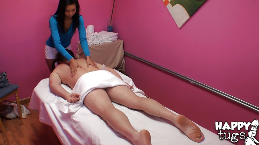 Filthy man is using this busty masseuse like a porn toy