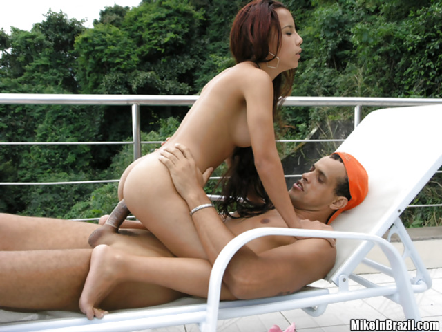 Juicy babe is deeply in love with her partner's big cock