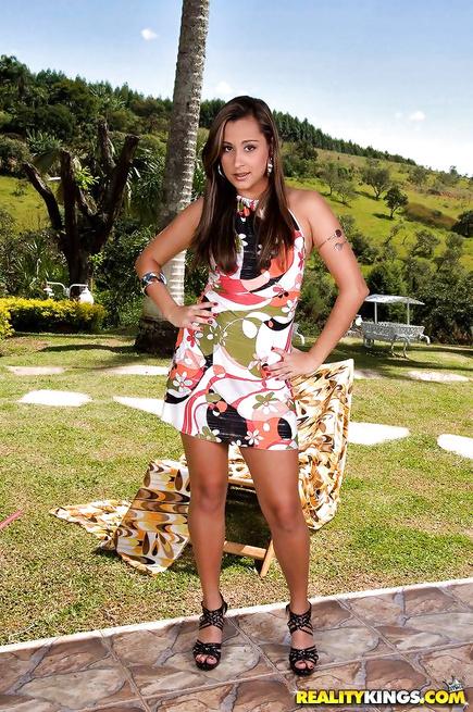 Adorable Brazilian chick is a big fan of hardcore fuck