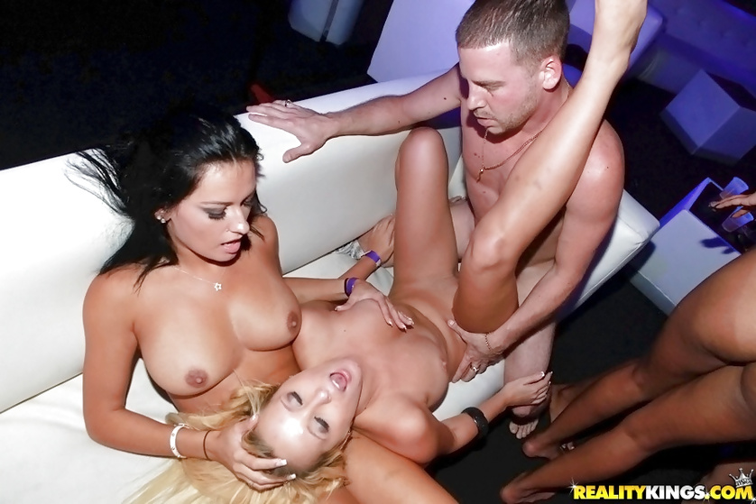 Luxurious babes are getting banged by passionate men