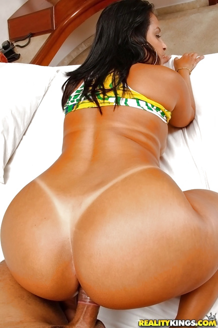 She is wearing bikini with the Brazilian flag on it