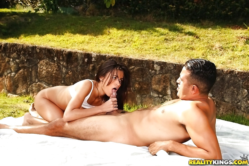 Latina chick is practicing yoga and fucking passionately