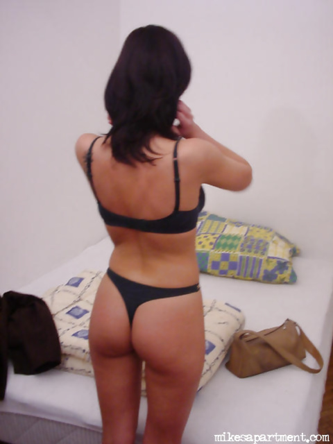 Horny brunette and her small white sex toy
