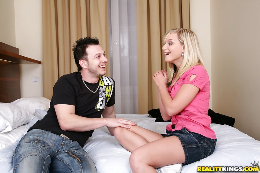 Hot blonde's vagina is getting penetrated really hard