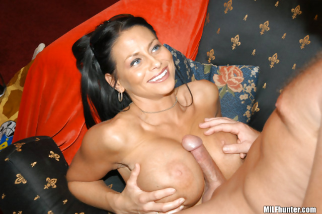 MILF is showing high class licking sperm from her tits