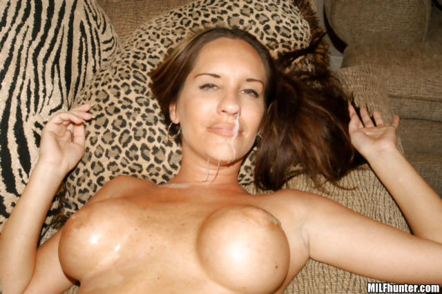 Busty MILF loves riding her partner's massive cock