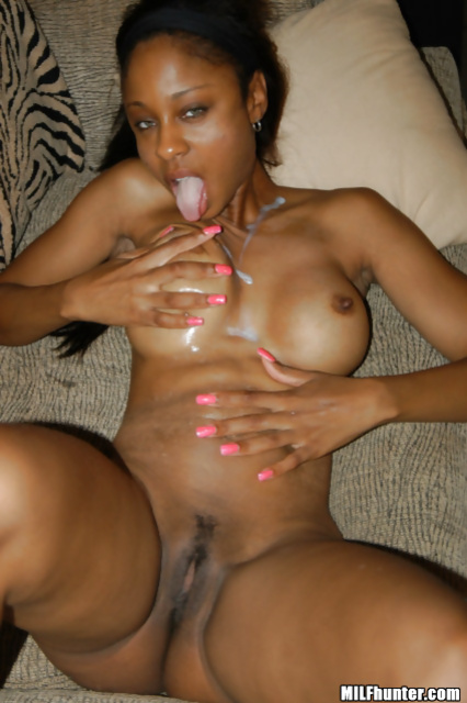 Wild interracial closeness with chocolate MILF lady