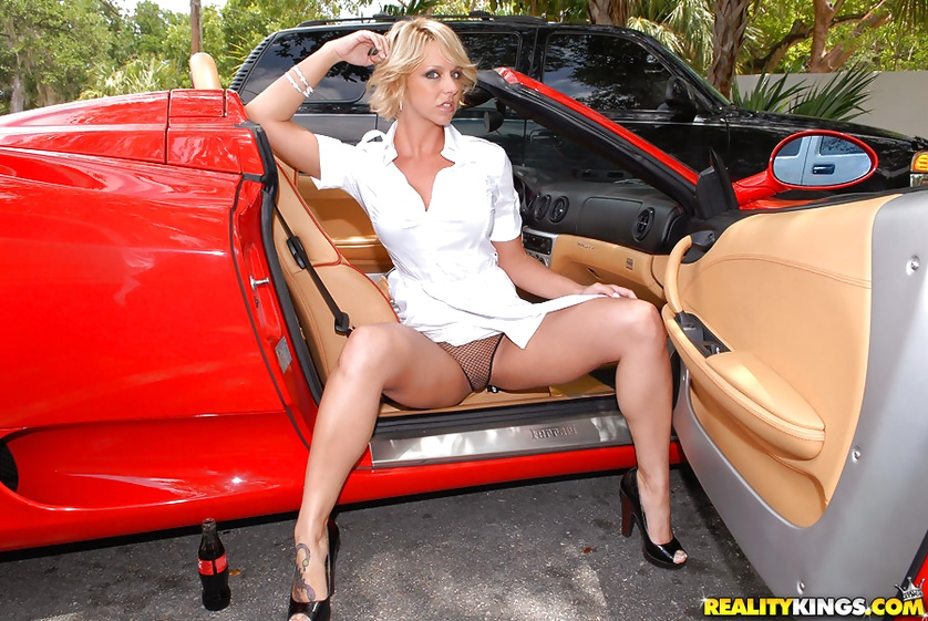 His red car is a good reason for her to fuck with him