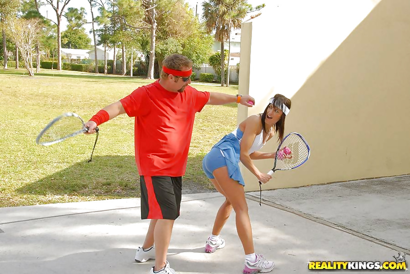 Sweet tennis player is happy to feel cock in her holes
