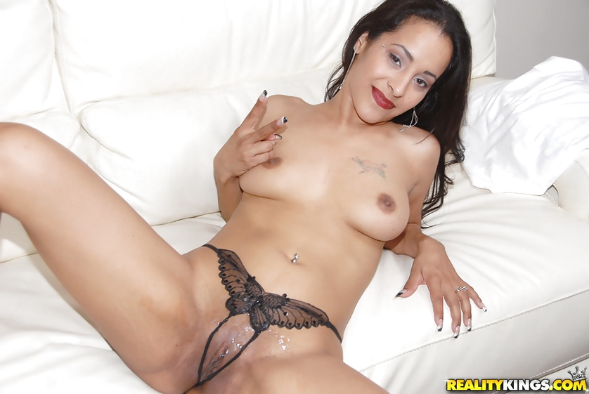 Horny brunette's sexual dreams are coming true
