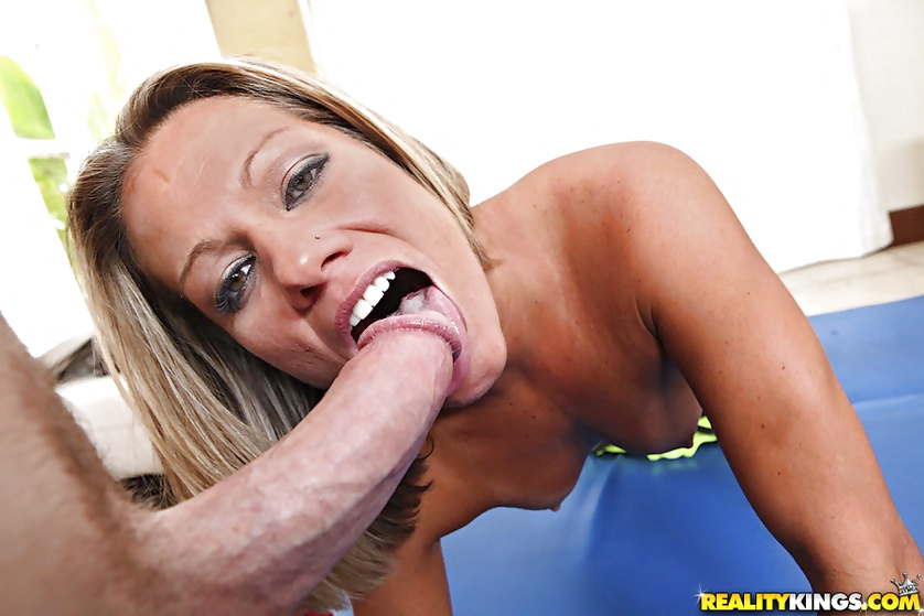 MILF is fond of having wild sex with her sport instructor