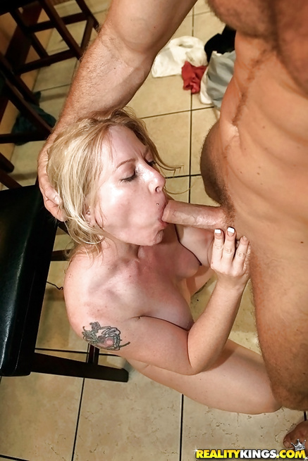 The man loves smoking, drinking and fucking busty blondes