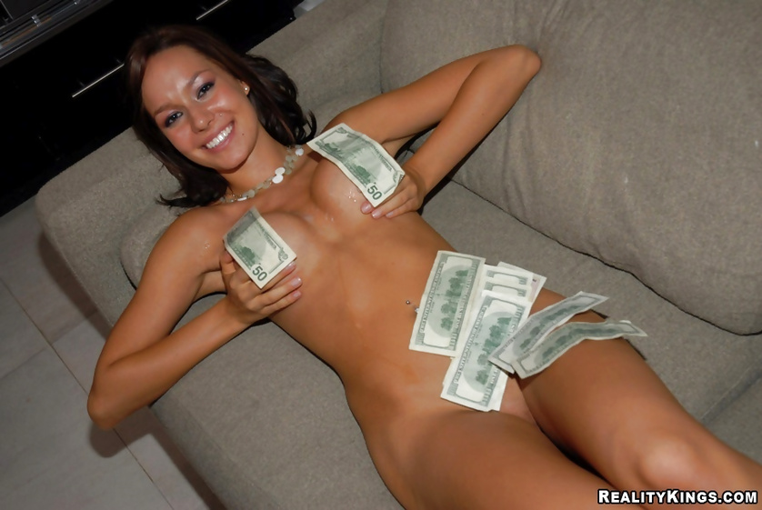 She wants to earn money, so she is ready to be banged