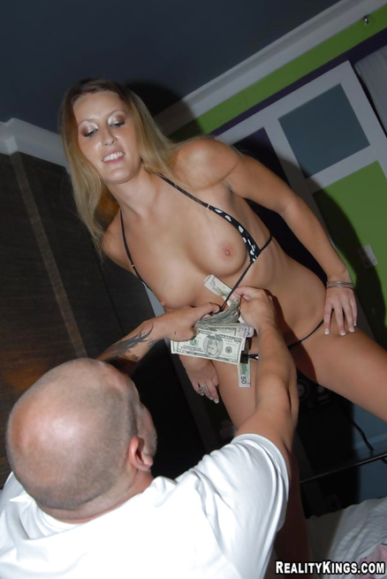 Lovely blonde is getting paid for hardcore sex session