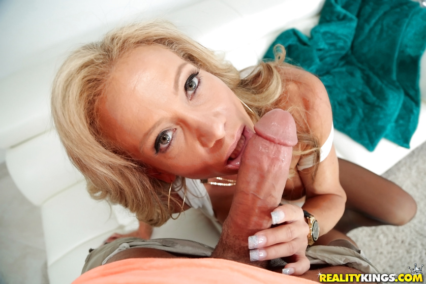 Man with strong cock is penetrating slutty MILF model