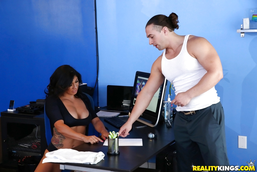 Brunette loves having wild sex with her sport instructor