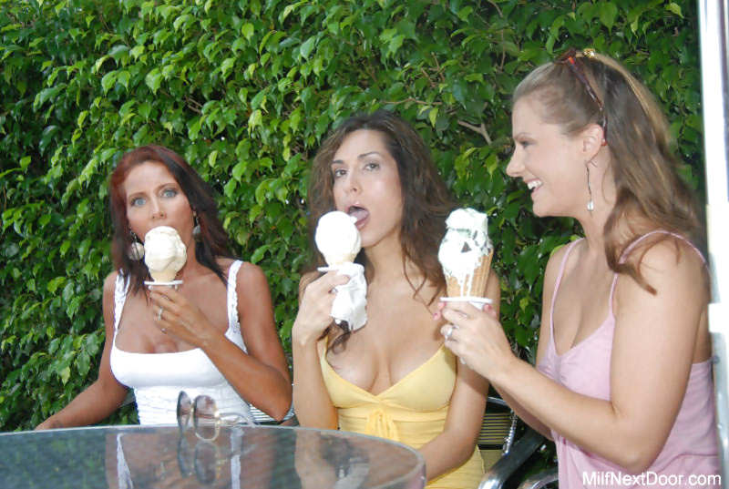 Three MILF women are doing well masturbating and fucking on camera