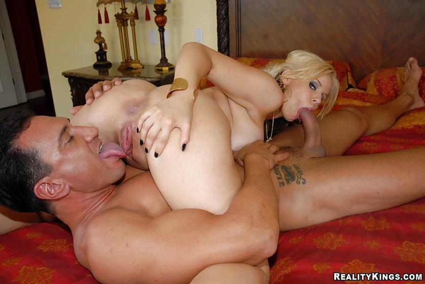 Wild blonde is getting her huge boobs jizzed on