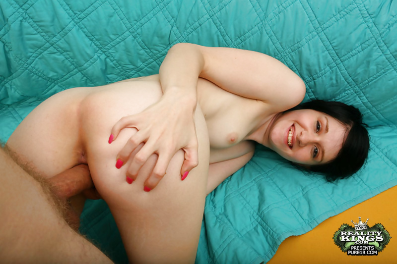Watch this gorgeous brunette fucking with her strong partner