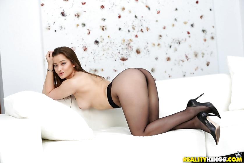 Wild MILF is demonstrating striptease skills before having sex